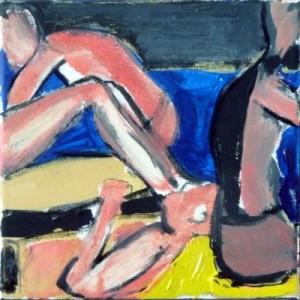 """""""Sun-burnt I"""", 2014, 20 x 20cm, Mischtechnik/Lwd."""